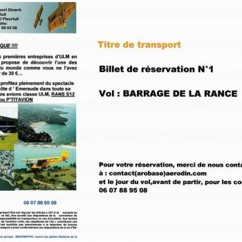 Cheque vol 1 - Barrage de la Rance