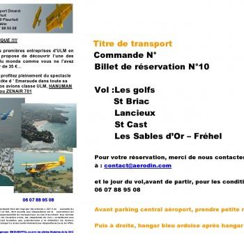 Chèque Vol 10 - Golfs St Briac - Lancieux - St Cast - Les Sables d'Or (Fréhel)