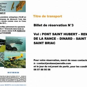 Chèque Vol 3 - Remontée Rance & Balcon d'Emeraude