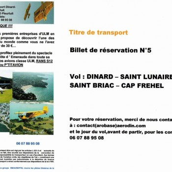 Chèque Vol 5 - Barrage Rance & Cap Fréhel