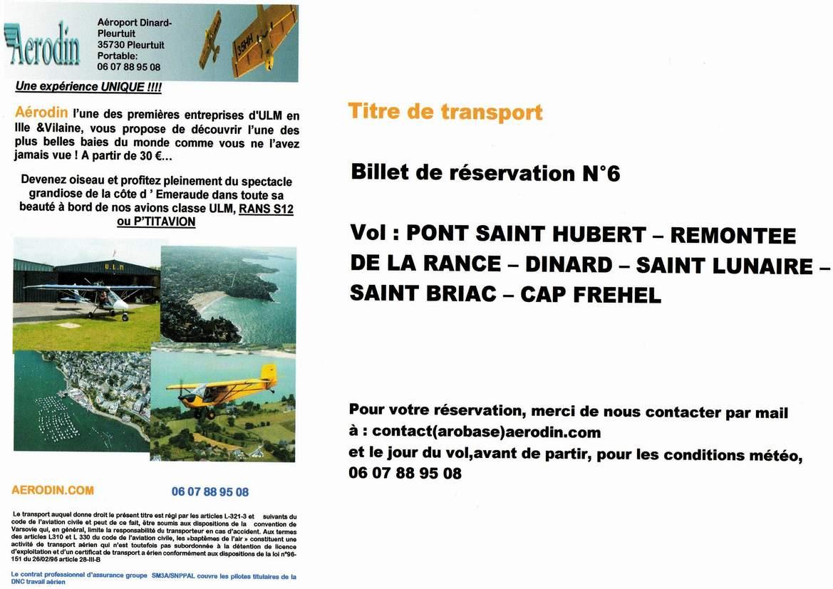 Chèque Vol 6 - St Hubert & Rance & Cap Fréhel
