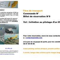 Chèque Vol 9 - Initiation au pilotage d'un ULM 3 axes
